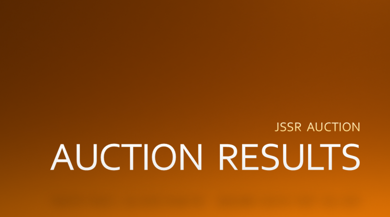 JSSR Auction Summary: MAY 2018